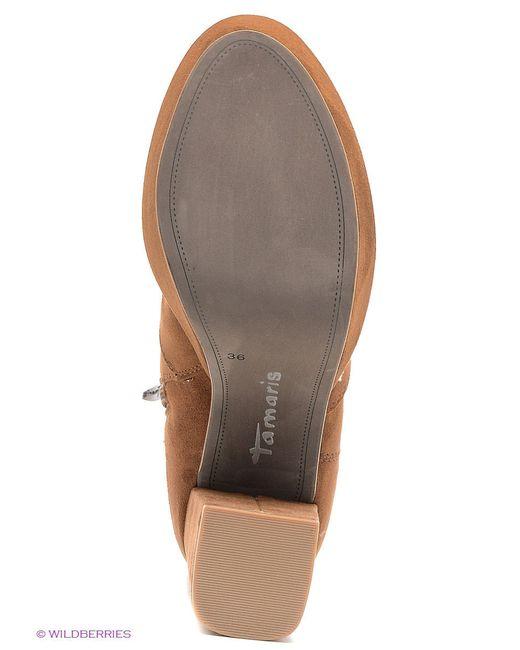 Полусапожки Tamaris                                                                                                              коричневый цвет