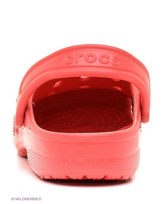 Сабо Crocs                                                                                                              красный цвет