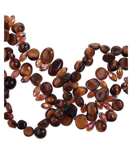 Колье Migura                                                                                                              коричневый цвет