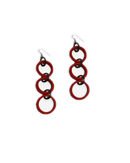 Серьги Divetro                                                                                                              красный цвет