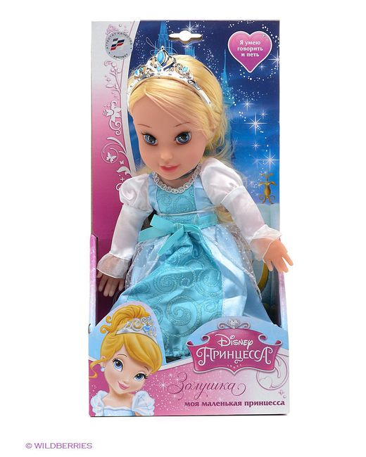 Кукла Disney Принцесса. Золушка Карапуз                                                                                                              голубой цвет