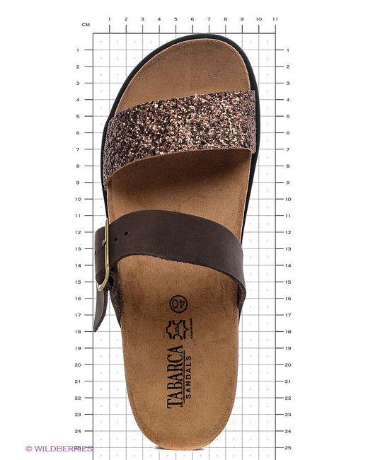 Шлепанцы TABARCA SANDALS                                                                                                              коричневый цвет
