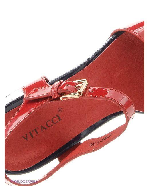 Босоножки Vitacci                                                                                                              красный цвет