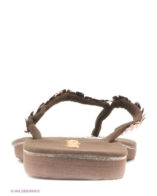 Шлепанцы Mon Ami                                                                                                              коричневый цвет