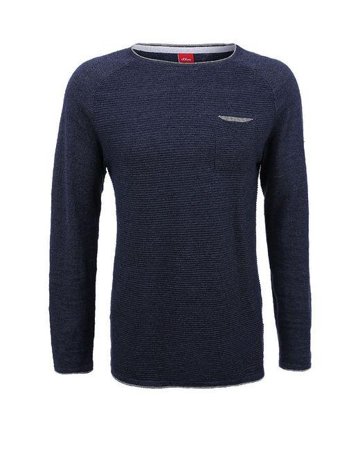 Пуловеры s.Oliver                                                                                                              синий цвет