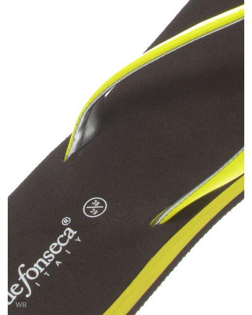 Шлепанцы De Fonseca                                                                                                              желтый цвет