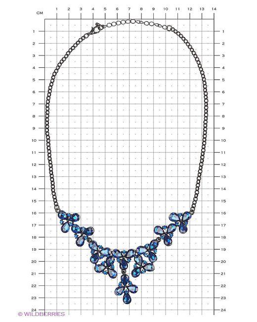 Колье Lovely Jewelry                                                                                                              синий цвет