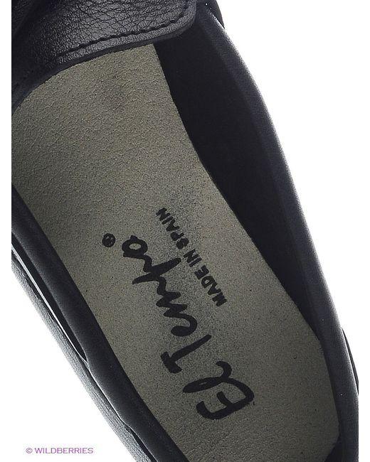 Мокасины El Tempo                                                                                                              чёрный цвет