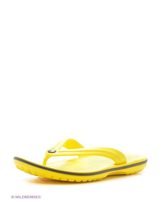 Пантолеты Crocs                                                                                                              желтый цвет