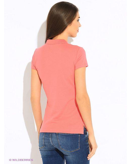 Поло Tommy Hilfiger                                                                                                              оранжевый цвет