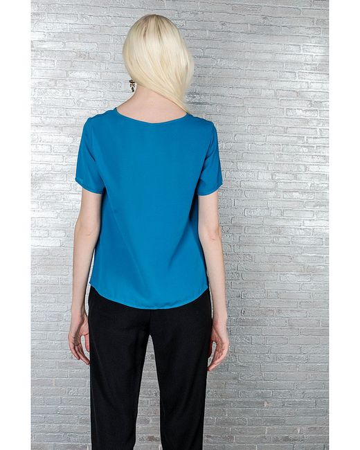 Блузки Monti Parioli                                                                                                              Бирюзовый цвет