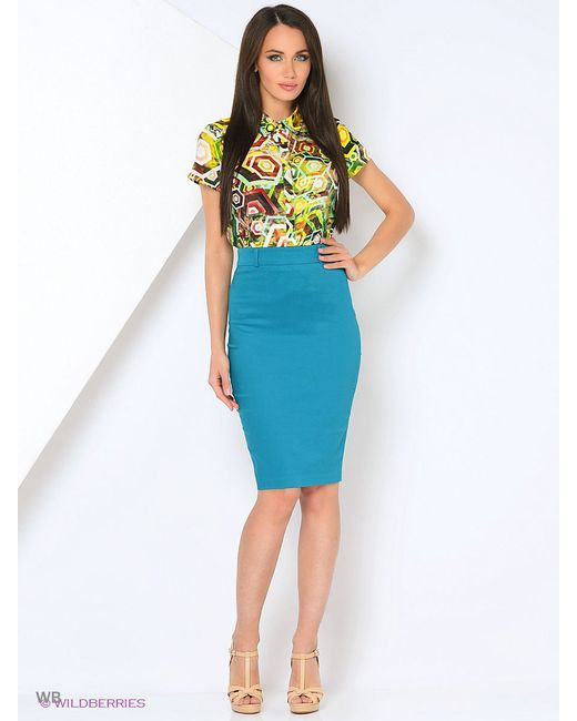 Юбки Milana Style                                                                                                              голубой цвет