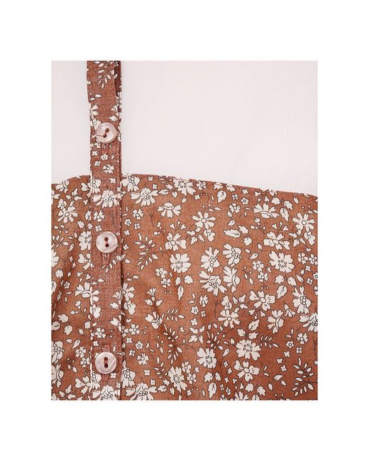Блузки LO                                                                                                              коричневый цвет