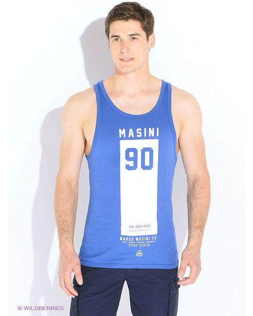 Майка Marco Masini                                                                                                              синий цвет