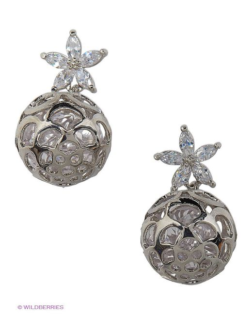 Серьги Lovely Jewelry                                                                                                              серебристый цвет