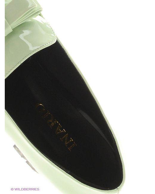 Туфли Inario                                                                                                              зелёный цвет