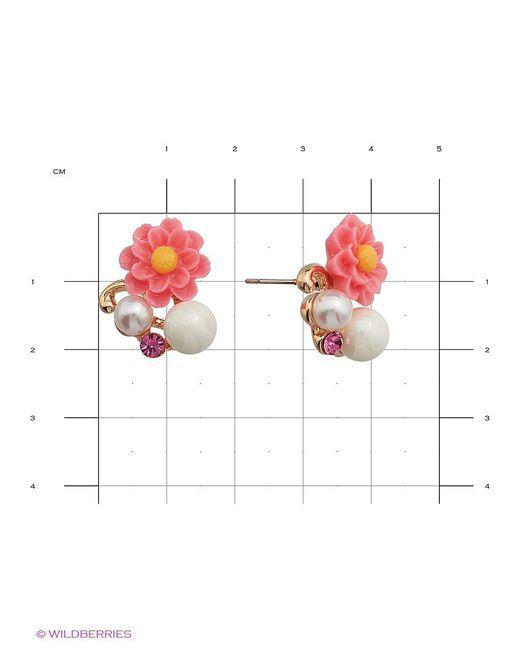 Серьги Royal Diamond                                                                                                              розовый цвет