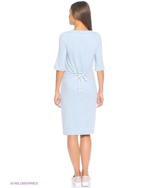 Платье Want Yu Mint Melange Midi MilkyMama                                                                                                              голубой цвет