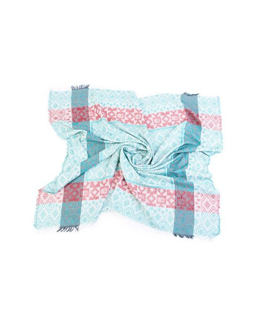 Платок Двухсторонний ГАНГ                                                                                                              голубой цвет