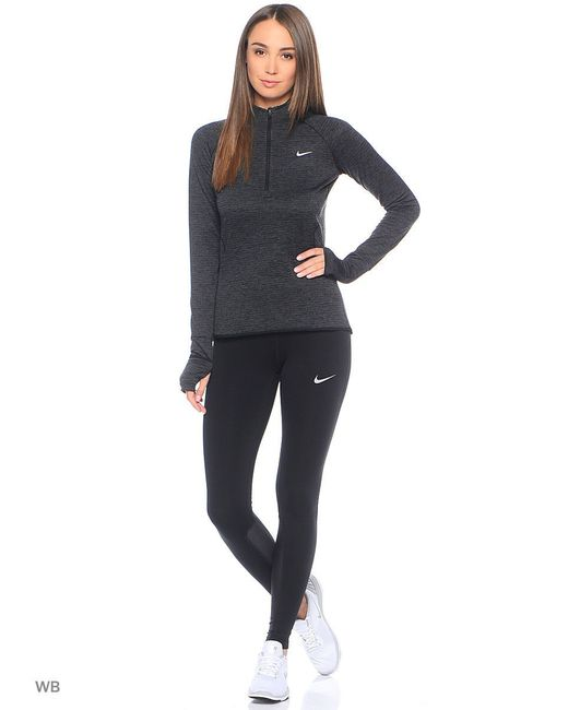 Лонгслив Element Sphere 1/2 Zip Nike                                                                                                              чёрный цвет