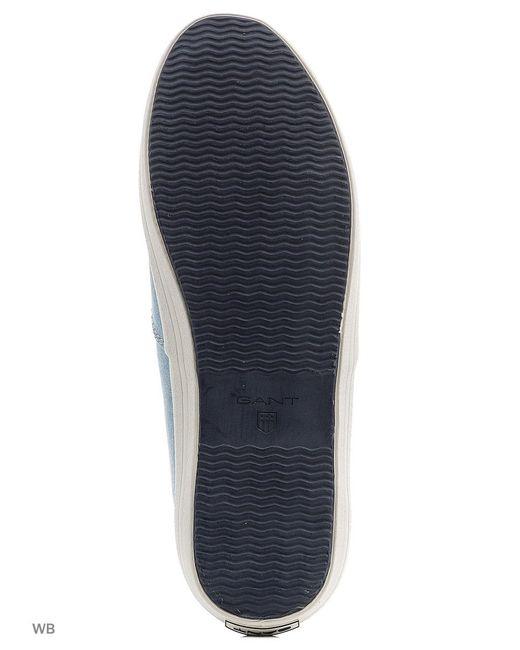 Кеды Gant                                                                                                              голубой цвет