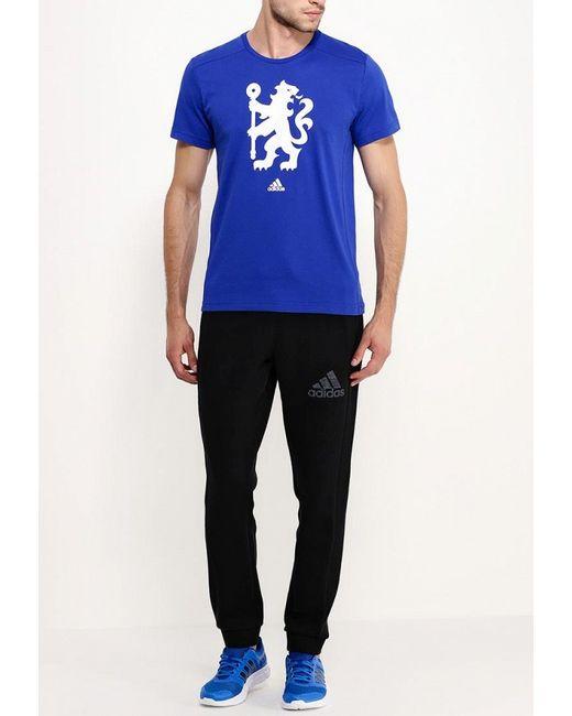 Футболка Спортивная adidas Performance                                                                                                              синий цвет