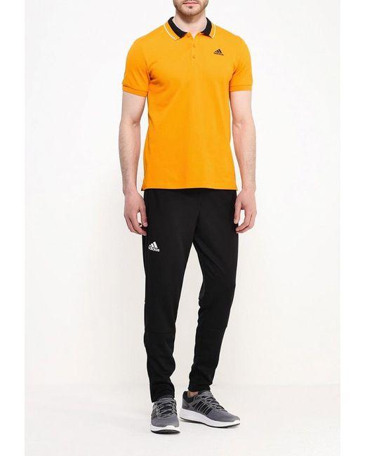 Поло adidas Performance                                                                                                              оранжевый цвет