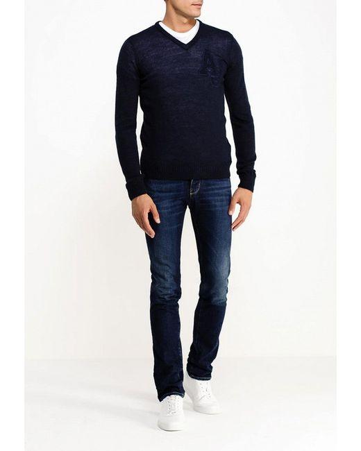 Пуловер ARMANI JEANS                                                                                                              синий цвет