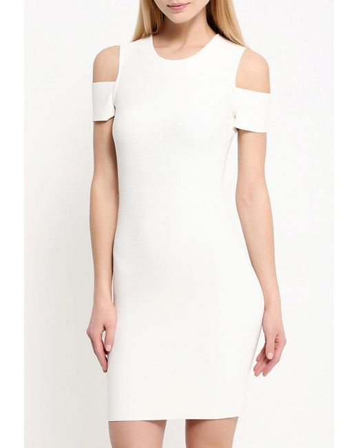 Платье BCBGMAXAZRIA                                                                                                              бежевый цвет