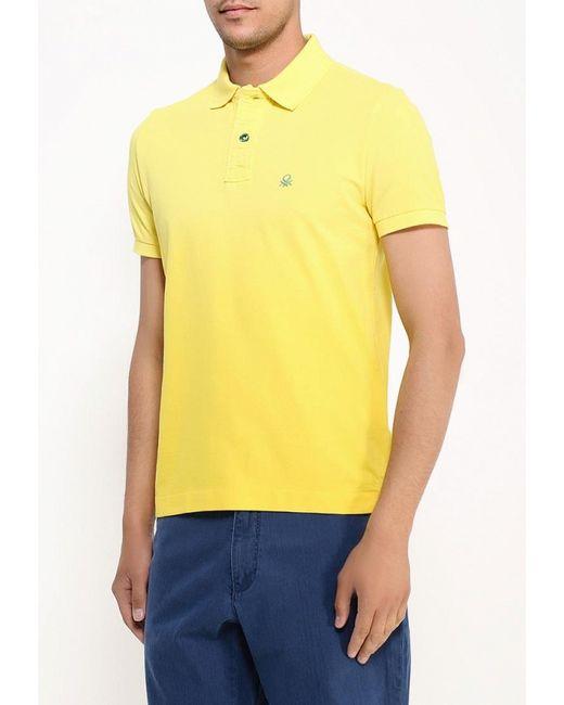 Поло United Colors Of Benetton                                                                                                              желтый цвет