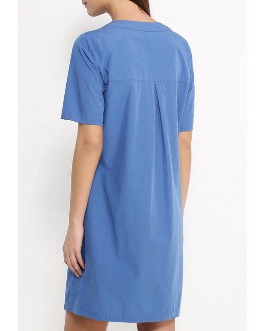Платье United Colors Of Benetton                                                                                                              синий цвет
