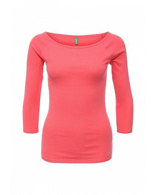 Лонгслив United Colors Of Benetton                                                                                                              розовый цвет