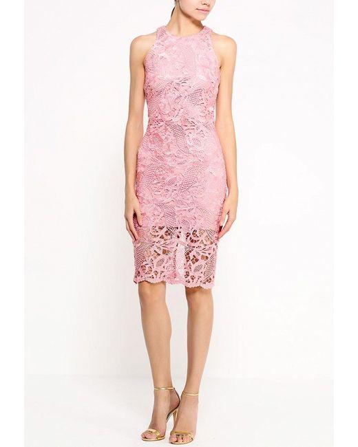 Платье Bebe                                                                                                              розовый цвет