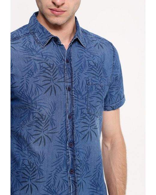 Рубашка Джинсовая Befree                                                                                                              синий цвет