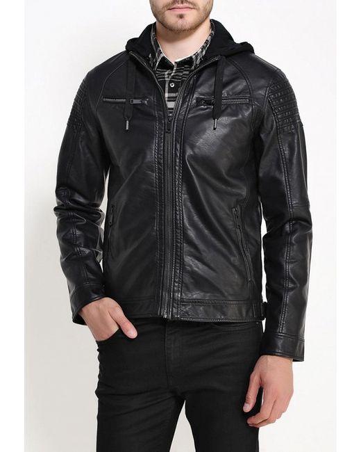 Куртка Кожаная Brave Soul                                                                                                              чёрный цвет