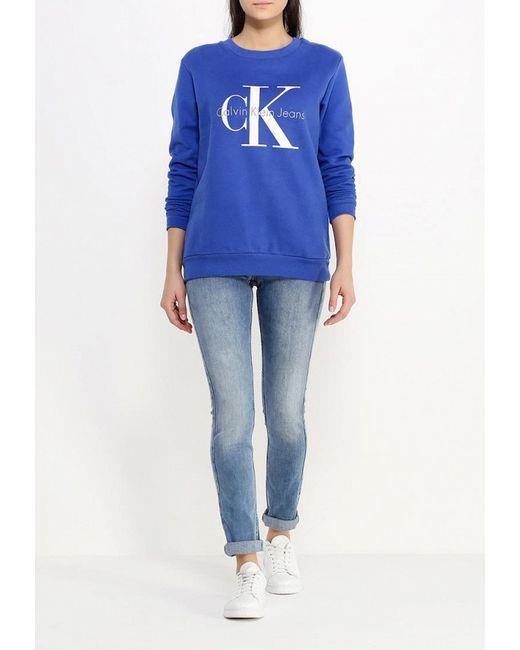 Худи Calvin Klein Jeans                                                                                                              синий цвет