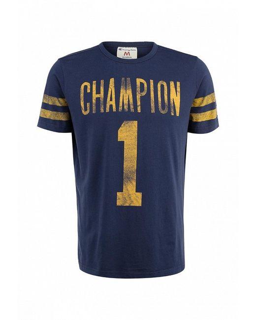 Футболка Champion                                                                                                              синий цвет