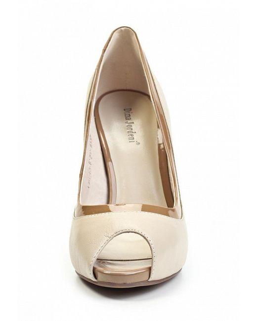 Туфли Dina Jordeni                                                                                                              бежевый цвет