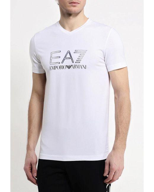 Футболка EA7                                                                                                              белый цвет