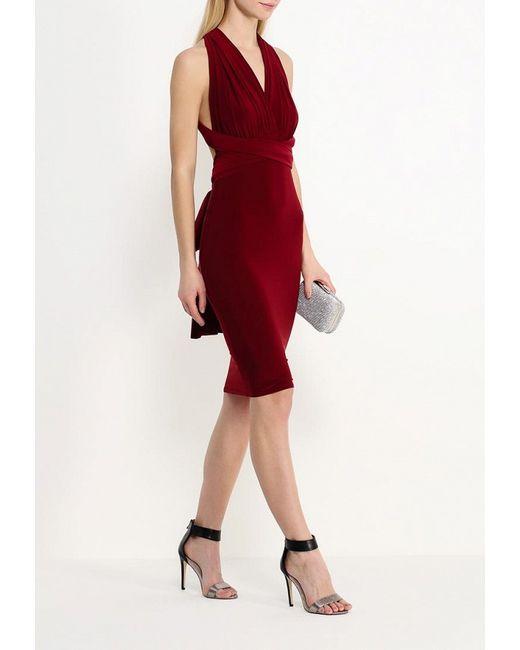 Платье Edge Clothing                                                                                                              красный цвет