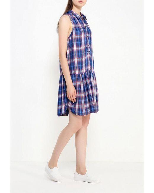Платье Gap                                                                                                              синий цвет