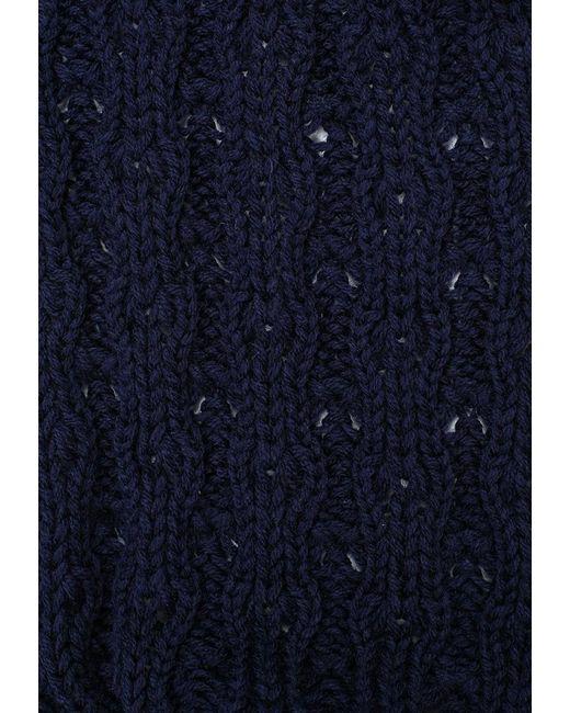 Шарф Greenmandarin                                                                                                              синий цвет