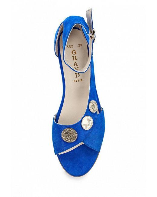 Сандалии Grand Style                                                                                                              синий цвет