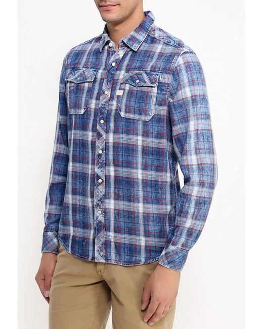 Рубашка G-Star                                                                                                              синий цвет