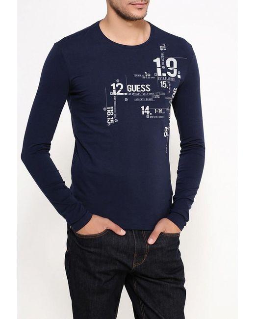 Лонгслив Jeans Guess                                                                                                              синий цвет