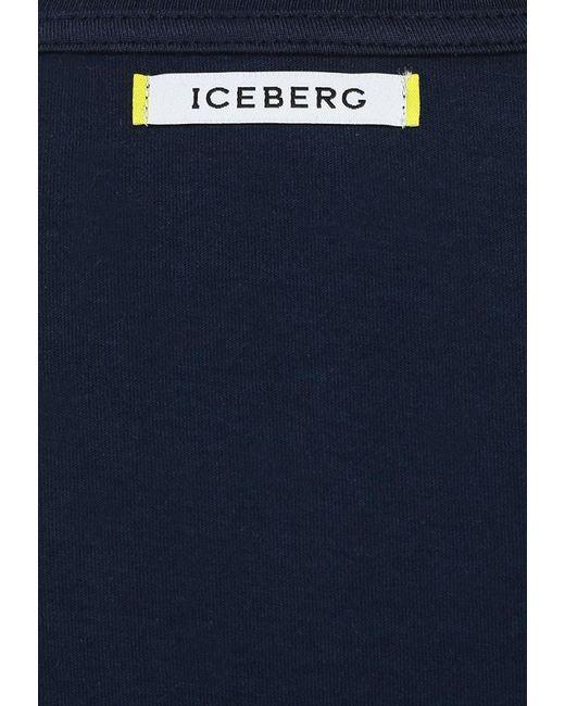 Футболка ICEBERG                                                                                                              синий цвет