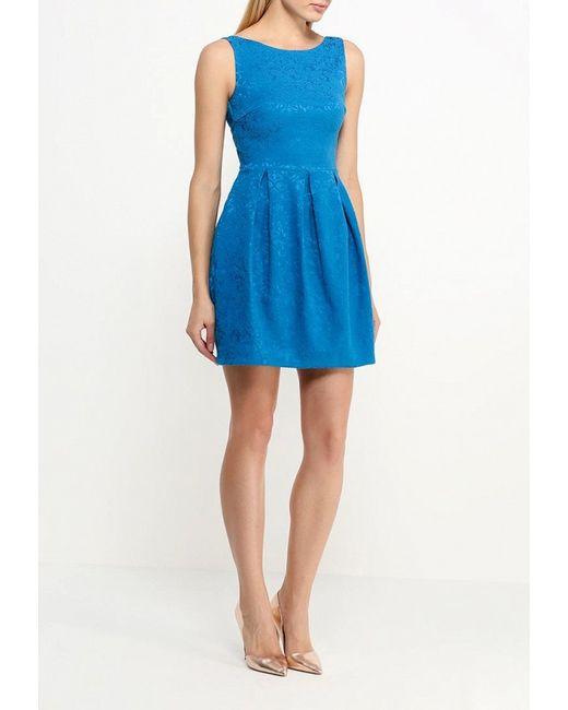 Платье Incity                                                                                                              голубой цвет