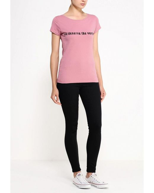 Футболка Jacqueline de Yong                                                                                                              розовый цвет