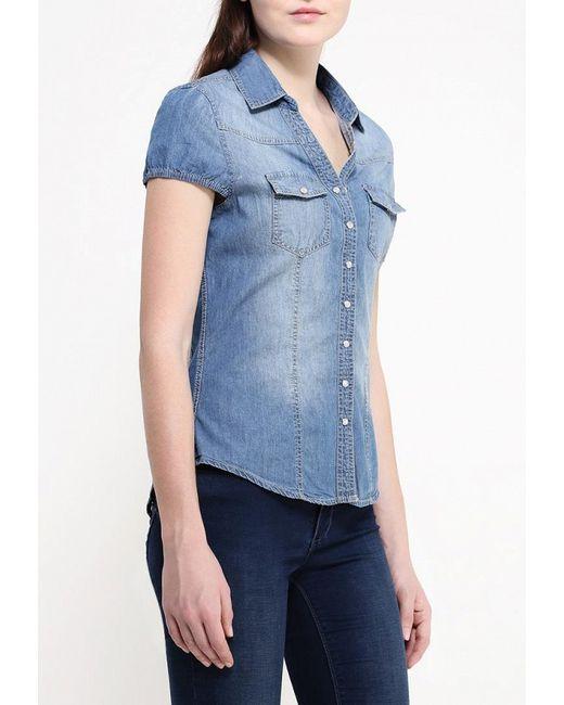 Рубашка Джинсовая Kruebeck                                                                                                              голубой цвет