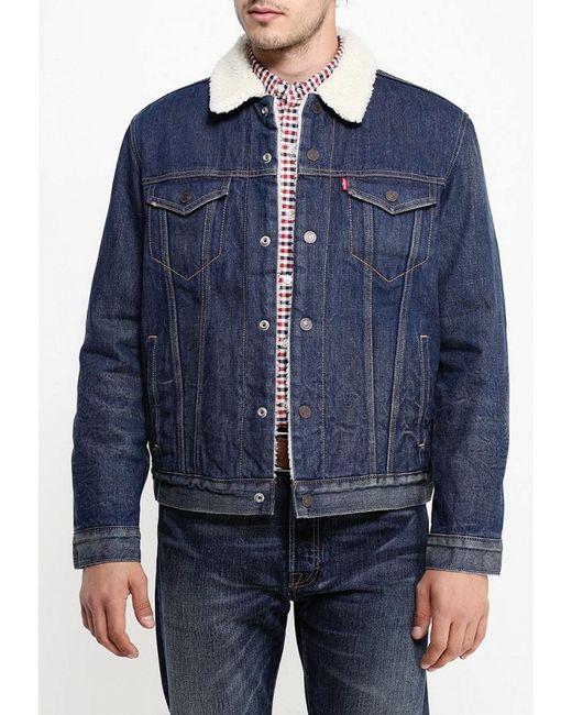 Куртка Джинсовая Levi's®                                                                                                              синий цвет